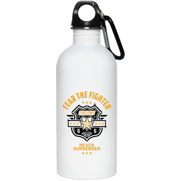 FTF Police Stainless Steel Water Bottle 20 oz - Fear The Fighter