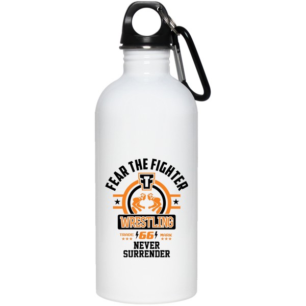 FTF Wrestling Stainless Steel Water Bottle 20 oz - Fear The Fighter
