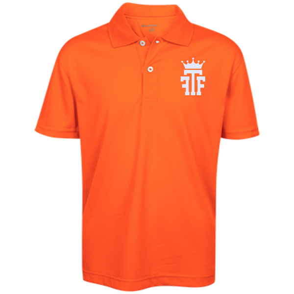 FTF Logo Youth Performance Polo - Fear The Fighter
