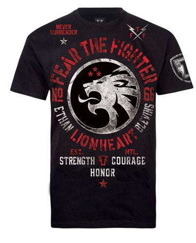 Ethan Lion Heart Blevins Tshirt Youth - Fear The Fighter