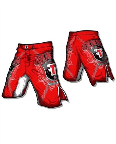 FTF Fight Shorts Red - Fear The Fighter