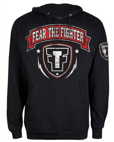 FTF Logo Red Hoodie - Fear The Fighter