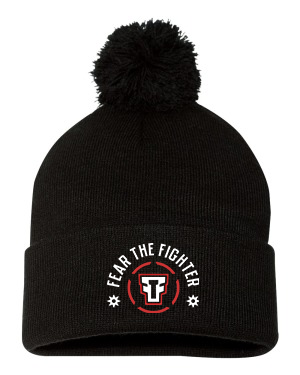 FTF Logo Pom Pom Knit Cap - Fear The Fighter