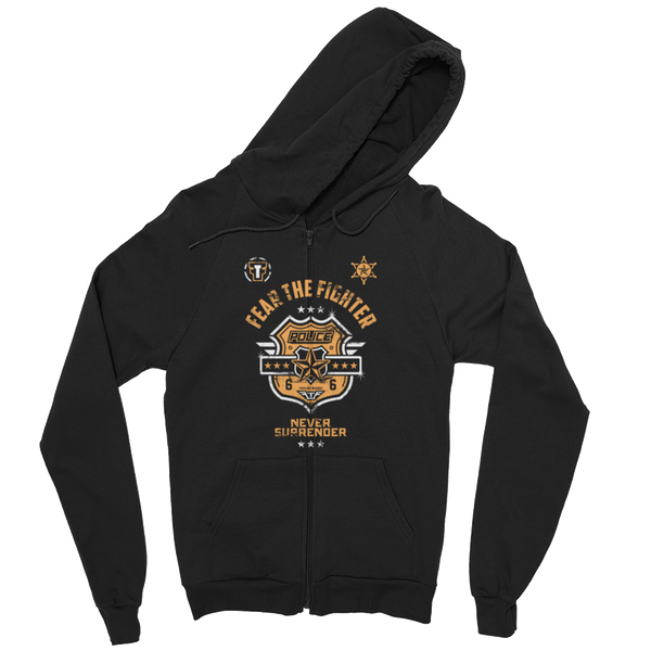 FTF Police ZipUp Hoodie - Fear The Fighter