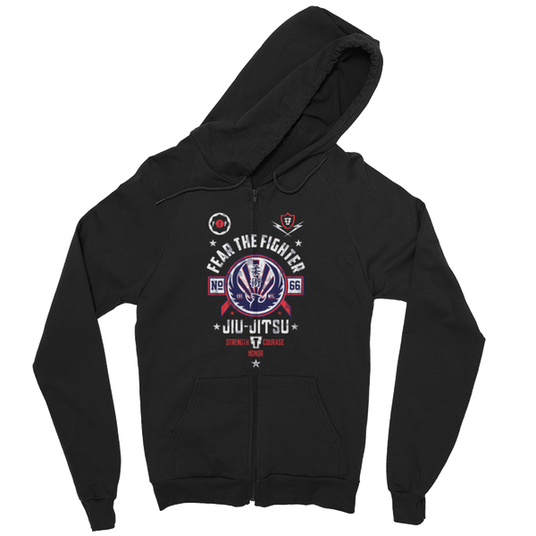 FTF Jiu Jitsu ZipUp Hoodie - Fear The Fighter