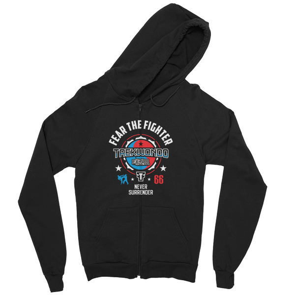 FTF Teakwondo ZipUp Hoodie - Fear The Fighter