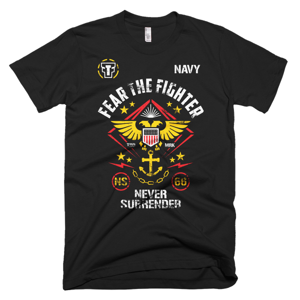 FTF Navy Tshirt - Fear The Fighter