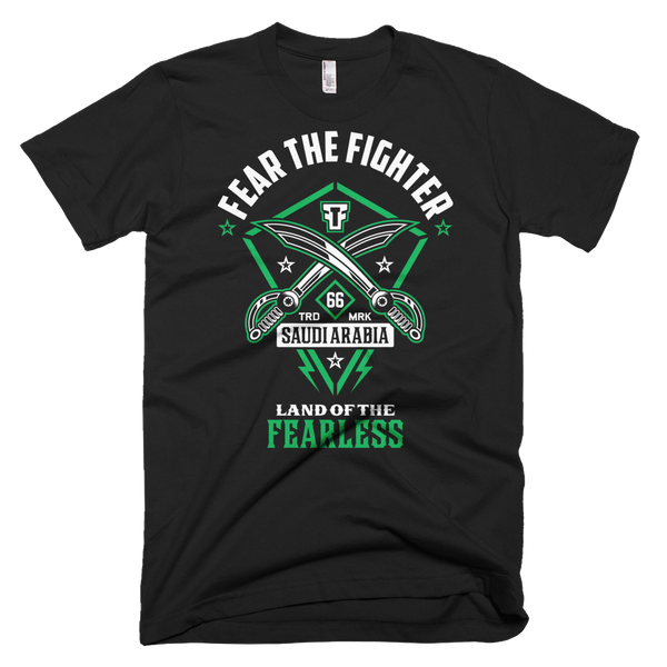 FTF WBL Saudi Arabia Tshirt - Fear The Fighter