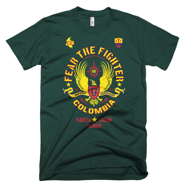 FTF WBL Colombia Tshirt - Fear The Fighter