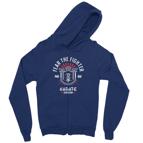 FTF Karate ZipUp Hoodie - Fear The Fighter