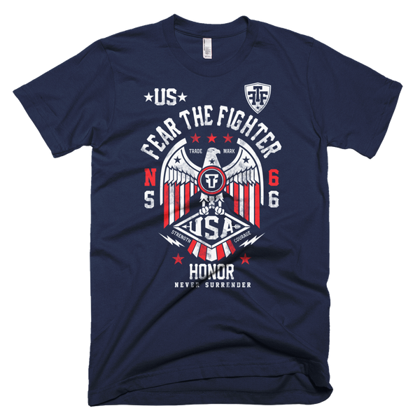FTF WBL USA Tshirt - Fear The Fighter