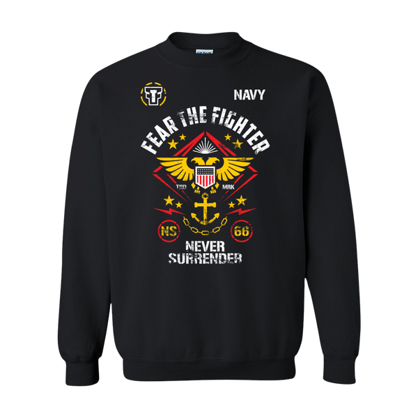 FTF Navy Sweatshirt - Fear The Fighter