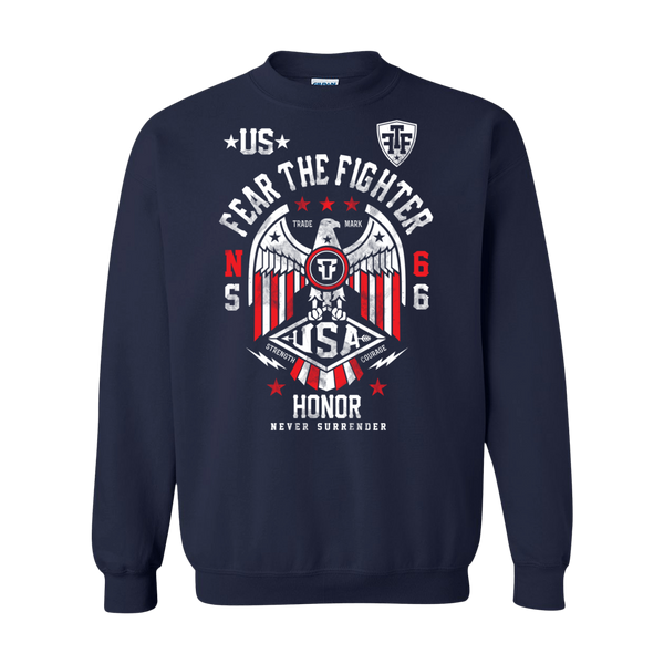 FTF WBL USA Sweatshirt - Fear The Fighter