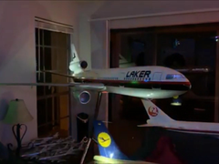Airplane with LEDs