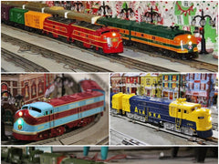 Custom Painted Trains