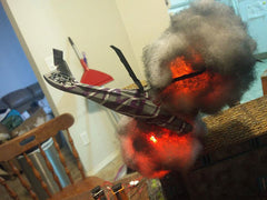 Helicopter Explosion Model using Fire LED Kit