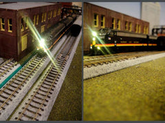 N scale FP7A using a 1.8mm warm single led