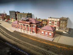 N scale replica of Union Pacific (Amtrak) station