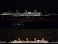 Titanic model with LEDs and fiber optics