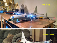 USN C-130F Tacamo trainer model with Even Design's LEDs
