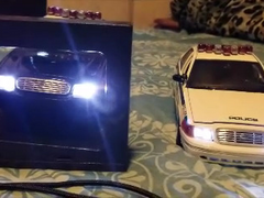 Wig-wag lights in police cars