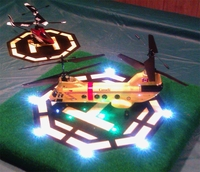 Model Spaceship and Airplane LED Lighting Uses