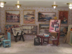 Art studio dollhouse