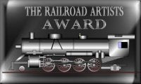 Evan Designs receives the Railroad Artist Award