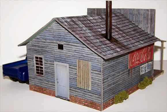 graphic regarding Free Printable Model Railway Buildings titled HO Fashion Educate Scale Establishing - Dwelling Evan Models
