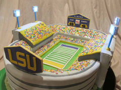 Beautiful LSU Tiger stadium cake