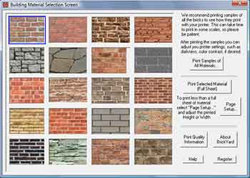brick for O scale Modeling