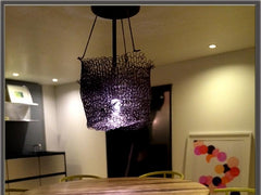 Chandelier over the kitchen table