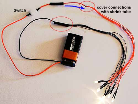 How To Connect a DC LED to Power - Beginners Area – Evan Designs Wiring V Batteries In Series on wiring rechargeable batteries in series, wire 4 batteries series, wiring car batteries in series,