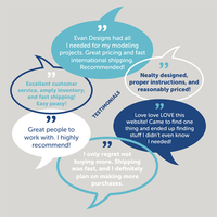 Customer comments and testimonials