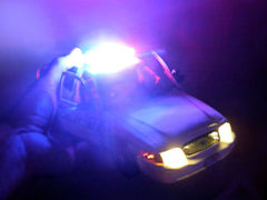 Emergency lights on police car