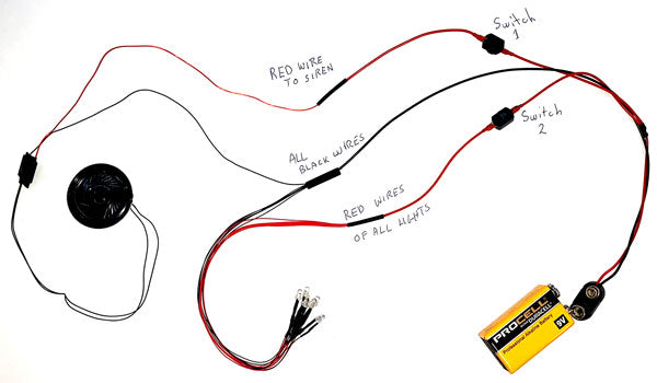 how to wire a firetruck siren