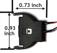 Coin cell holder dimensions