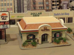 Modern stores were made with Model Builder, including the backdrop stores