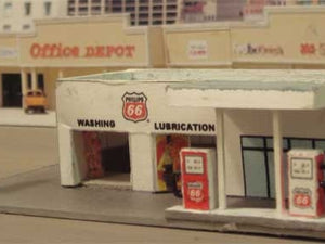 Nice ! Gas Station made with Model Builder