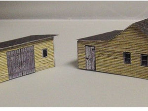 N scale sheds