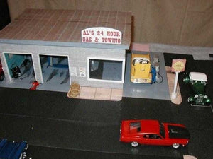 garage interior and exterior built with model builder