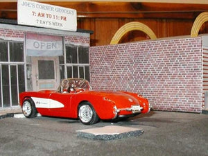 pulling up at the store, this 1:24 diecast looks great with model builder models around it!
