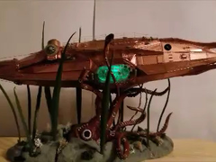 Nautilus submarine using Evan Designs LED's