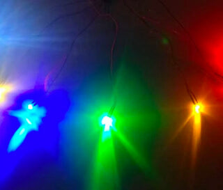 Flickering Colored LED Lights