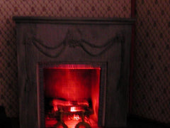 Red Shabby Chic fireplace
