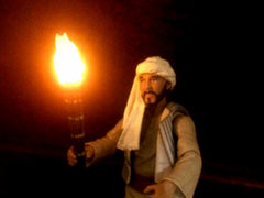 Sallah with the torch
