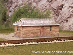 Scale Model Plan Bunkhouse