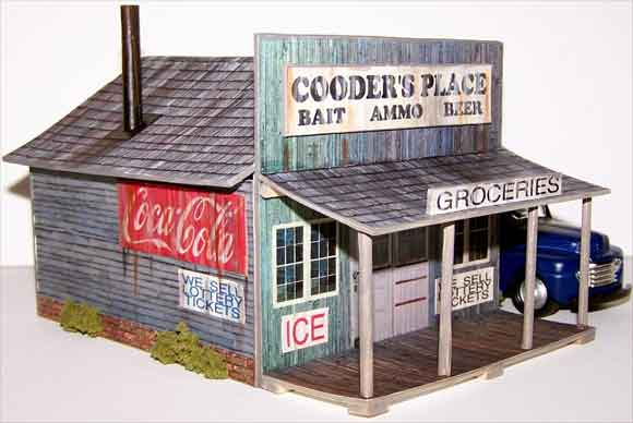 photo about Ho Scale Buildings Free Printable Plans called HO Design and style Coach Scale Designing - Household Evan Models