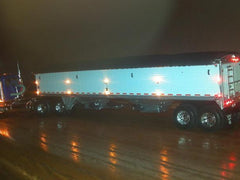 Tractor trailer side view