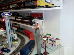 Trains on the shelves